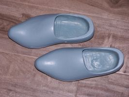 my blue wooden shoes.... by Cainamoon