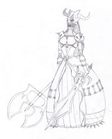 Thy Lady Death  :Concept: by MsInsanityDoodles
