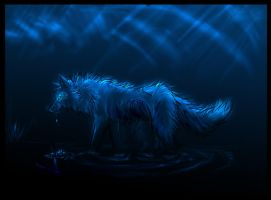 Spiritual Scribbles.  wolf. by AmberSea
