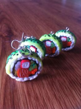 Trying to make sushi.. Polymer Clay *_* by DarkPartOfCarrot
