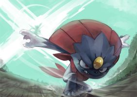 Fav Ice Type - Weavile by KoiDrake
