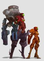 Samus Aran, Heavy Combat Version by cobaltplasma