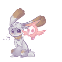 Bunnelby and Spritzee