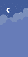 Free custom box bg: Cute Nightsky (Blue) by Hoshi-Hana