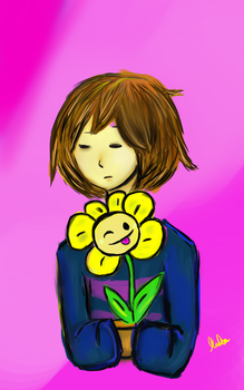 Frisk and Flowey by Potworek19