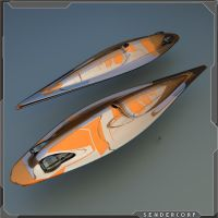 Galactic post WIP cruiser / cargo vessel by PINARCI