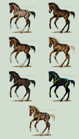 Blizzard Event Foal prizes by Tigra1988