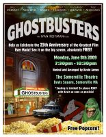 Ghostbusters flier by jhroberts