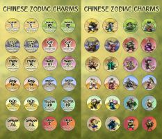 CaliFur Chinese Zodiac Set by shinragod