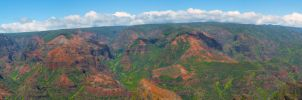Waimea Canyon Panorama by Vision-Quest