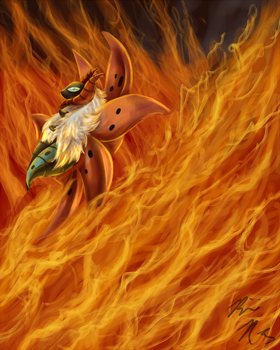 Volcarona used FIERY DANCE: re by PyroFishies