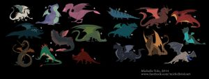 Dragon designs by Manweri