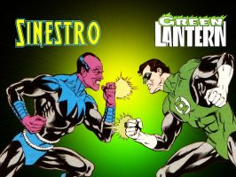 Sinestro vs Green Lantern by Superman8193