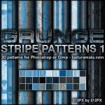 Grunge Stripe Patterns 1 by AscendedArts