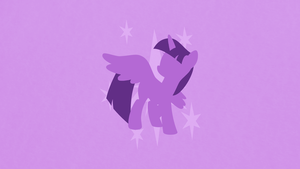 Princess Twilight Sparkle Minimalist Wallpaper by apertureninja