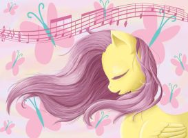 Fluttershy Sings A Lullaby by fjordhorse