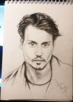 depp sketch by tonez2