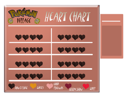 Pokemon Village: Heart Chart by Ignis-Commissions