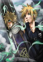 Cloud Strife: Dog to Wolf by nicoyguevarra