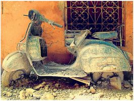 Dad's Grandpa Scooter by sundeep715