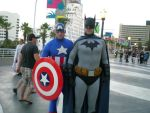 Batman and Captain America by obitoxuchihaxlover