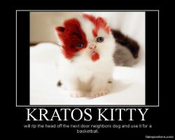 DM poster- Kratos kitty by riderkid
