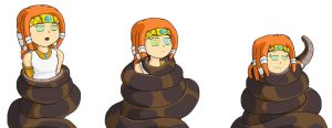 Human Tikal And Kaa Doodles by PhantomGline