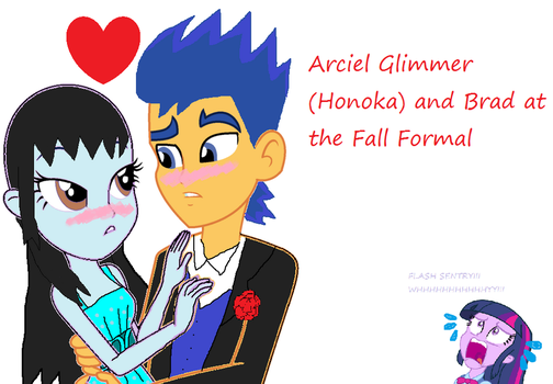 Arciel and Brad at the Fall Formal by Honoka-Hinamori