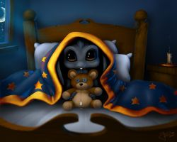 Afraid of the darkness by geci