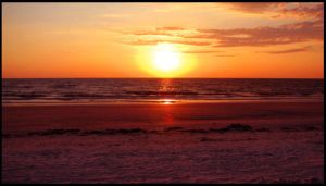 Sunset over Paradise I by 1000--Words