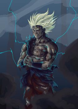 Son Goku, The Legendary Super Saiyan (WIP) by Aethereo