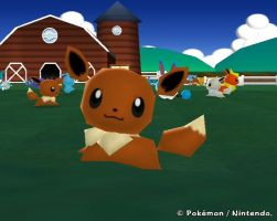 Eevee from My Pokemon Farm by Psunna