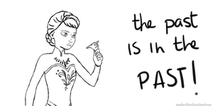 Elsa - the past is in the past by underthechestnutree