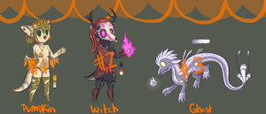 Halloween Dragon Adopts Set 1 Closed by SophieSuffocate
