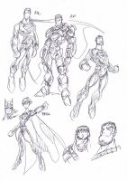 Man of Steel sketches by NachoMon