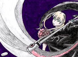 Soul Eater- Maka and Soul (Weapon Form) by Domo8U2