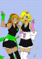 Anais and Marise Shinigami by Anais-StrongWorld