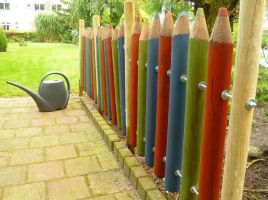 Pencil Fence by shadow-inferno