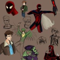 Unlimited Spiderman sketches by Catgirl-Calla