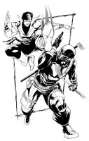 Karate Kid vs Snake Eyes by RobertAtkins