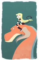 Girl on Dragon by NickSwift