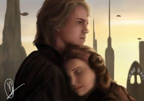 Anakin And Padme By Ivyel-d2zl8cy by Blasiankid11