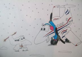 Megan and the snowplane by concordexlover