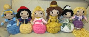 Disney Princess Handmade Amigurumi Set 2 by amigurumi4u