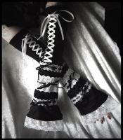 Extra Long Lolita Arm Warmers by ZenAndCoffee
