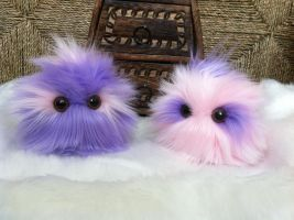 Cotton Candy Mohawk Poofs by EyepatchNinja