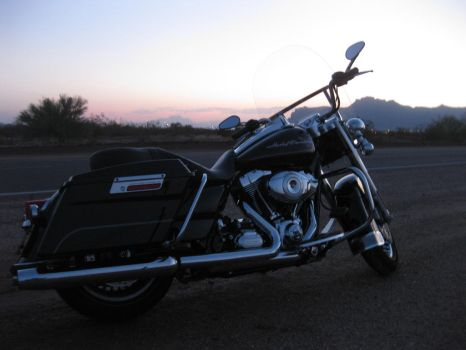 Arizona Sunrise with bike 072614 03 by acurmudgeon