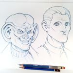 Quark and Odo Sketch by D-MAC