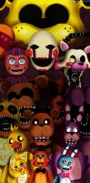Five nights at freddy`s  -All the gang by Abakura
