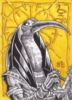 Thoth Sketch Card - Nestor Celario Jr. by Pernastudios